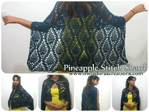 Pineapple-Shawl by Meladora's Creations