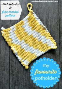 My favorite potholder by Oombawaka Design