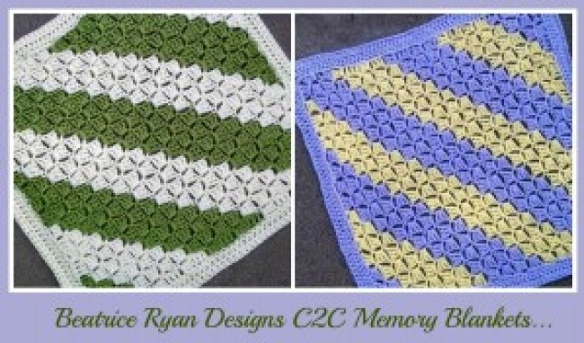 c2c memory blankets by Beatrice Ryan Designs