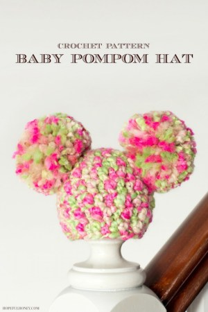 Newborn Spring Blossom Pom Pom Hat Crochet Pattern 5