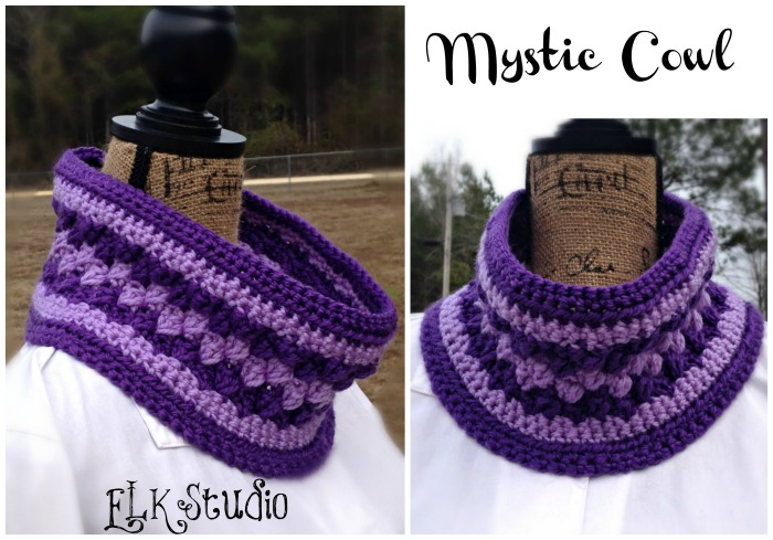 The Mystic Cowl designed by ELK Studio #freecrochet #crochetpattern #cowl