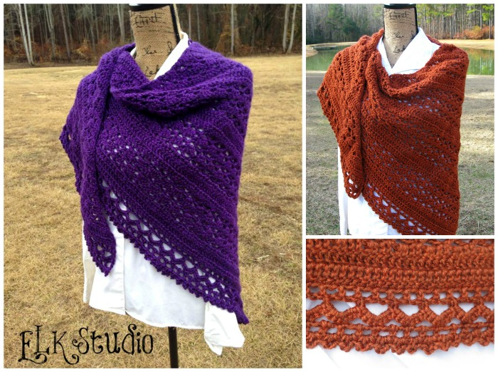 Wrapped in Warmth Shawl by ELK Studio #crochet #shawl