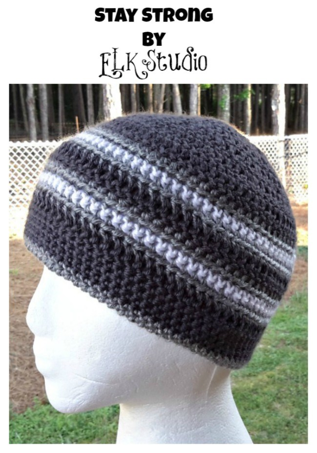 Stay Strong by ELK Studio #chemohat #crochet #freepattern #craft