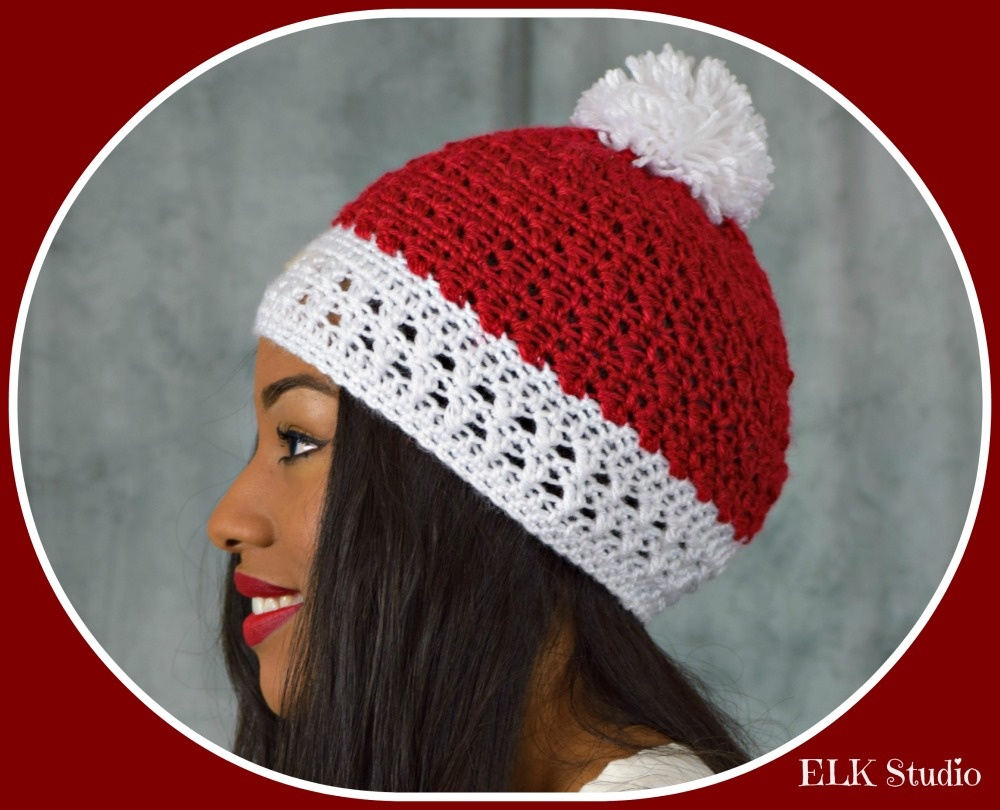 604f1927a62 Peppermint Kisses Crochet Beanie by ELK Studio