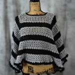 The Evening Chill Poncho is a great way to look elegant and feel warm while out with your friends!