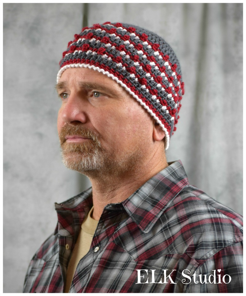 Campfire Nights by ELK Studio! Come make the guy in your life this beanie. He'll love it!