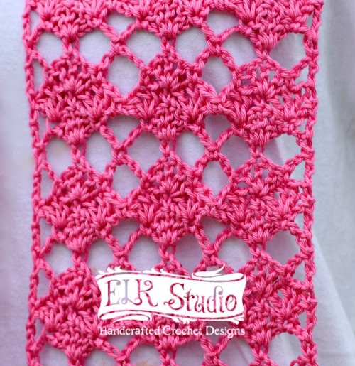 Sweet Pink Spring Scarf Close-up by ELK Studio