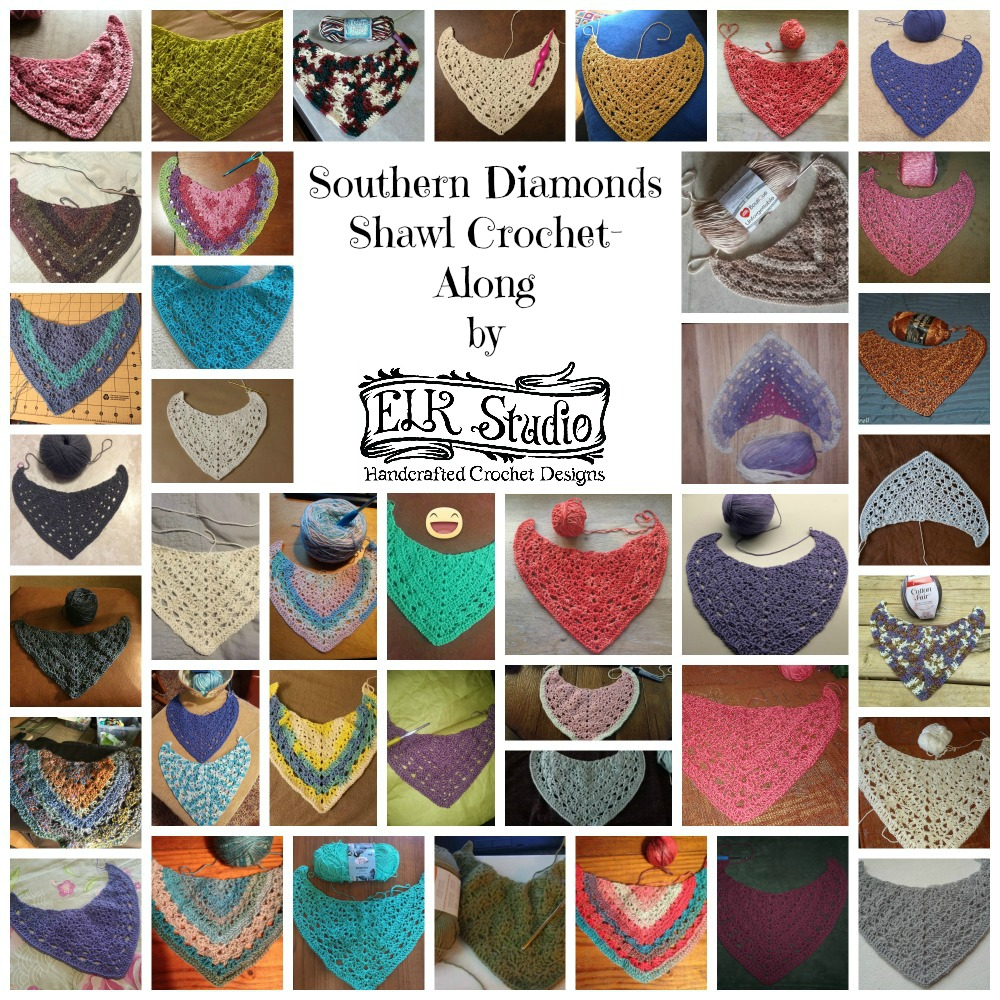 Southern Diamonds Shawl Collage 4 by ELK Studio
