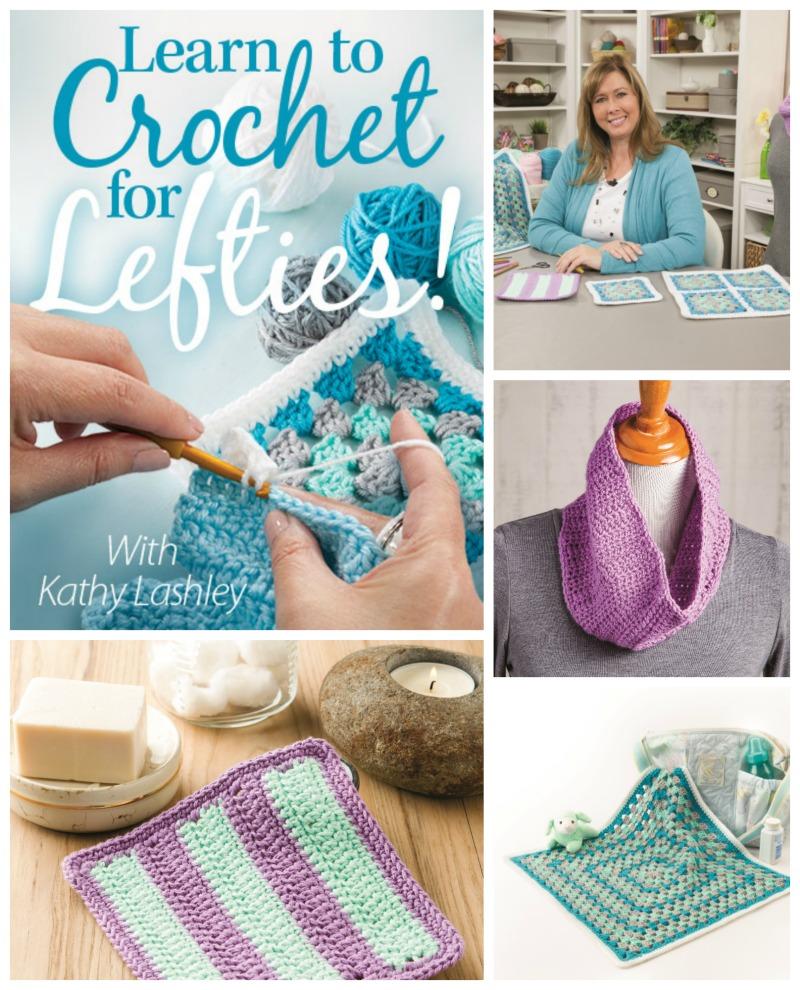 Annie's Learning to Crochet for Lefties Class by Kathy Lashley