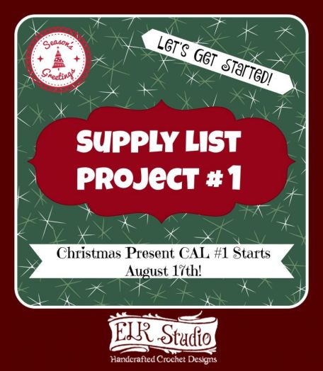 Christmas Present CAL 2016 Project #1 Supply List