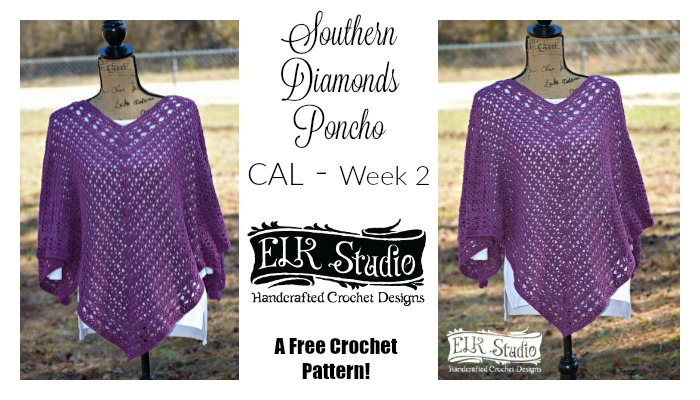 Southern Diamonds Poncho CAL Week 2