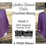Southern Diamonds Poncho Stitch Diagrams 16-26