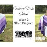 Southern Trails Shawl Stitch Diagram Rows 11-20