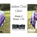 Southern Trails Shawl Week 2