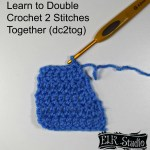 Double Crochet 2 Stitches Together Tutorial