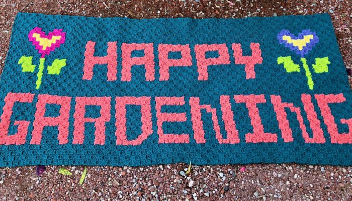 It's Springtime with the Happy Gardening Rug.