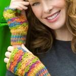 ELK Studio Saturday Crochet Show #103 Crochet Lace Fingerless Mitts