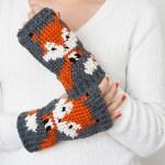 ELK Studio Saturday Crochet Show #103 Foxy Fingerless Gloves
