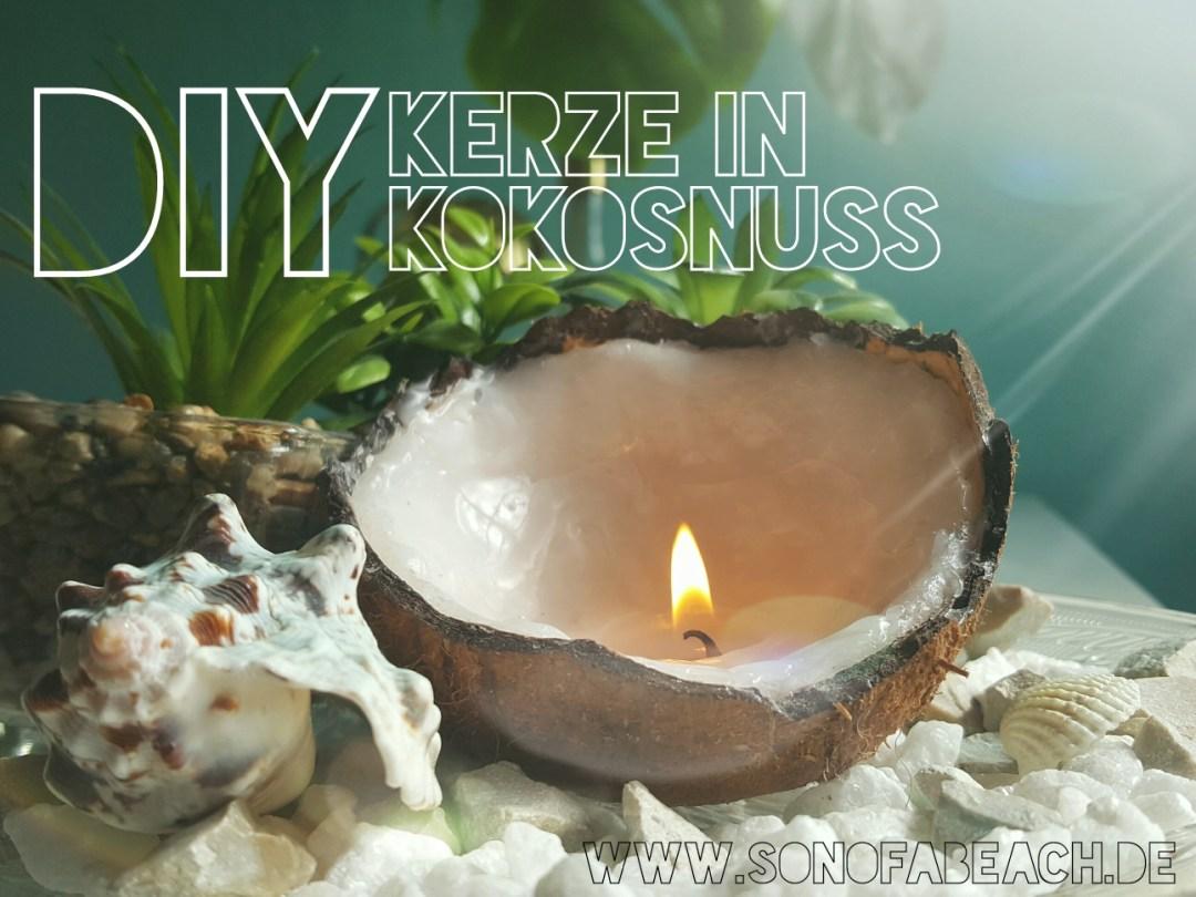 Diy Kerze in Kokosnuss