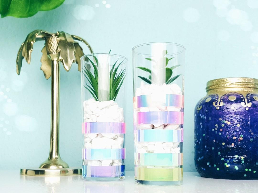 Vase mit holo effekt diy selbermachen deko