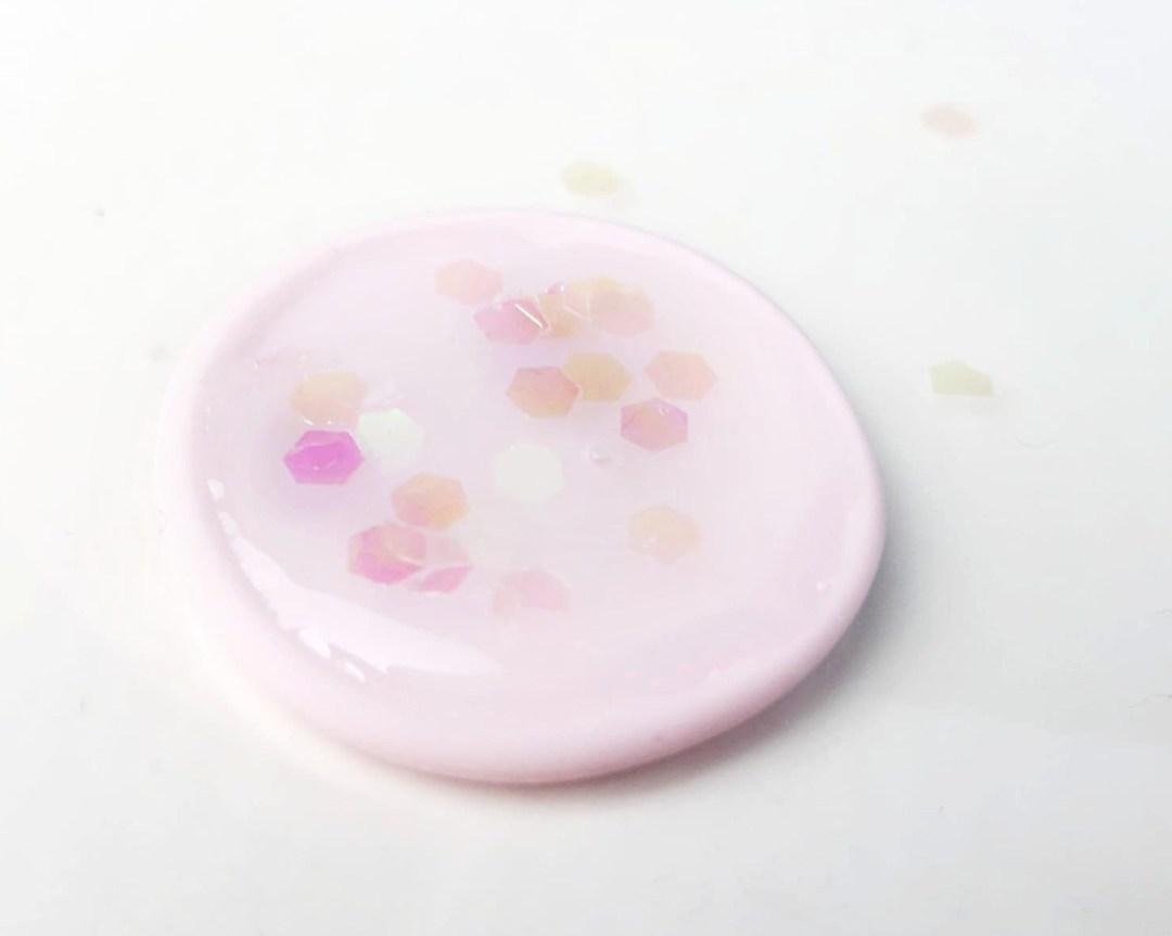 fimo ohrringe diy glitter liquid basteln