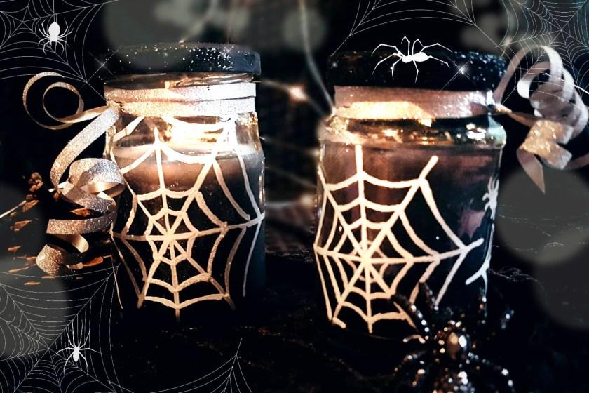 halloween kerze diy basteln idee