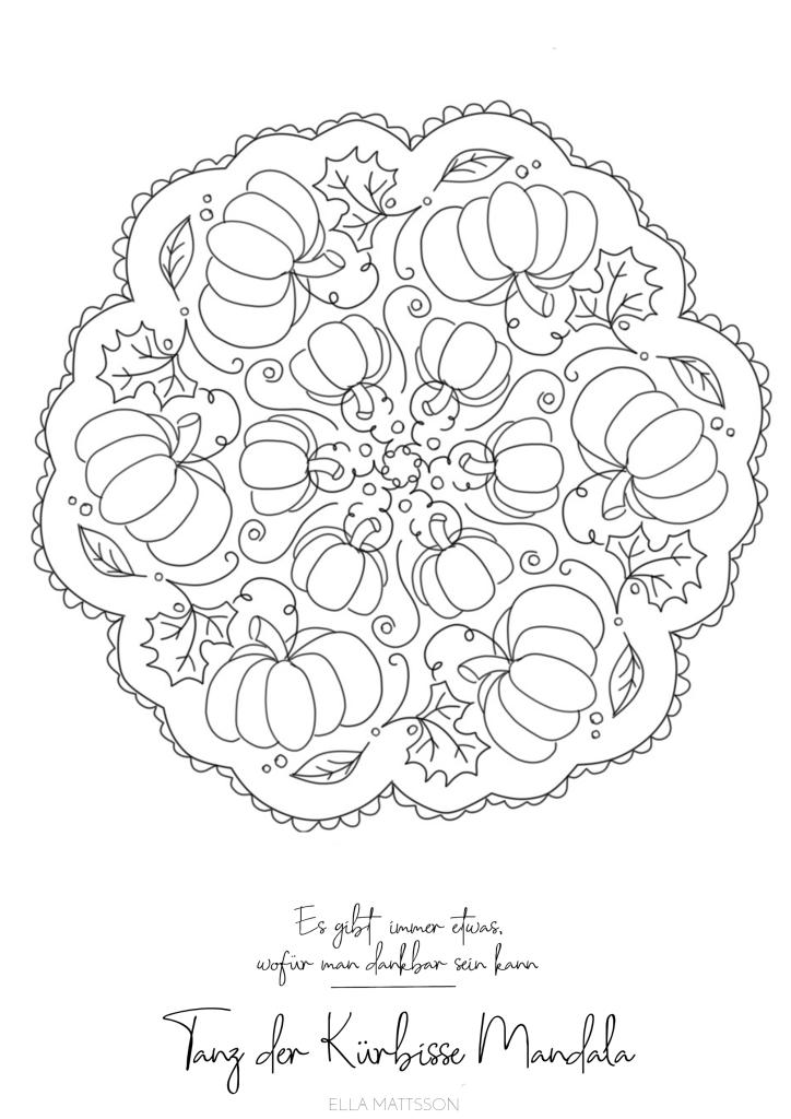 kürbis ausmalbild mandala