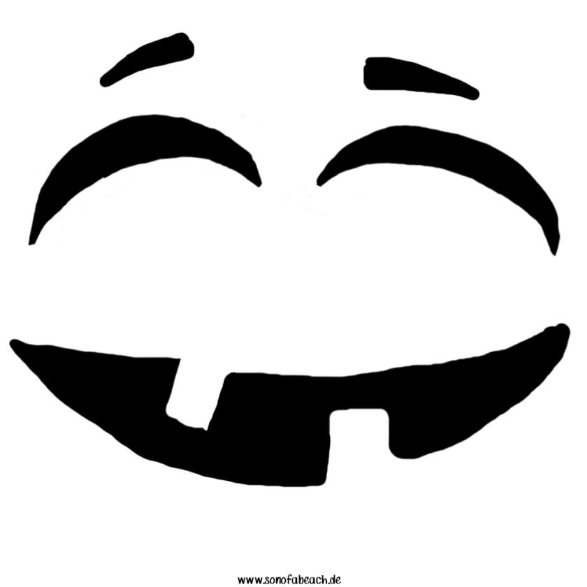 Lustiges Gesicht Kürbis Pumpkin funny Vorlage Template funny face pumpkin