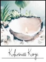 kerze in kokosnuss basteln diy