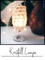kristall lampe glas nuggets upcycling