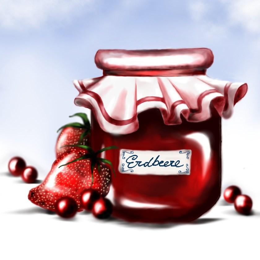 marmelade illustration food essen