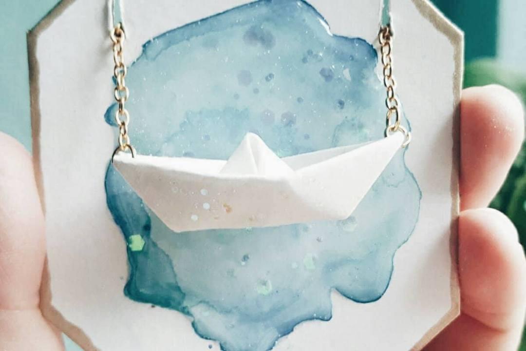papierschiffkette diy papierschiff origami