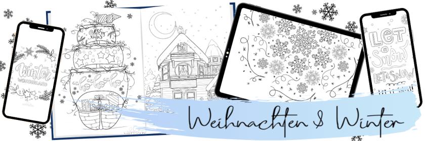 ausmalbilder winter erwachsene kostenlos