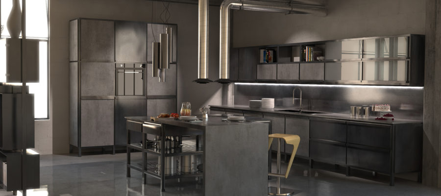 design cucina industriale