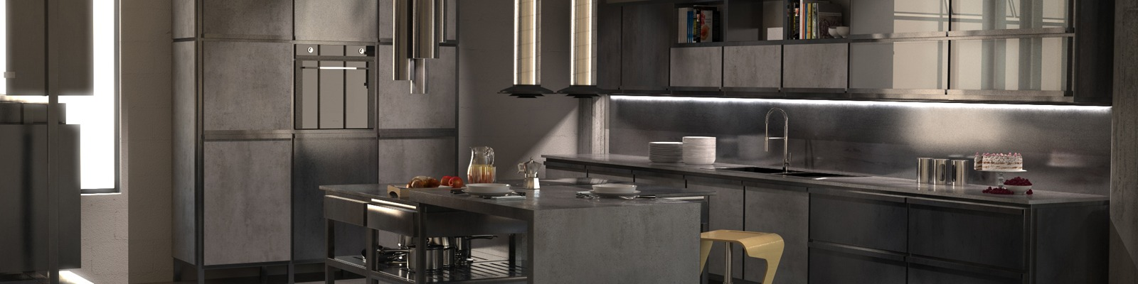 design cucina industriale