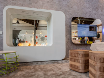FLA3, LAMBRATE DISTRICT, Salone del Mobile (M2 Lambrate) Hotel regeneration event, designed by Simone Micheli