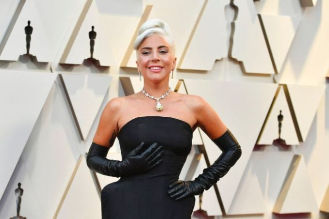 "Congratulations to Lady Gaga on accepting the award ""Song from the movie - Best Original Song"" for 'Shallow' in 'A Star Is Born' during the 91st Academy Awards."