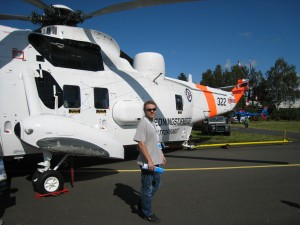 In front of the SeaKing