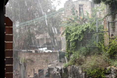 Rain in Sydney, view from our living room vindow
