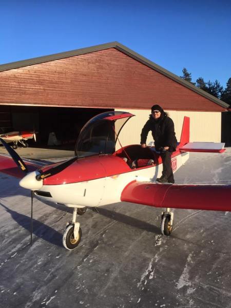 Parking the Zenair after landing