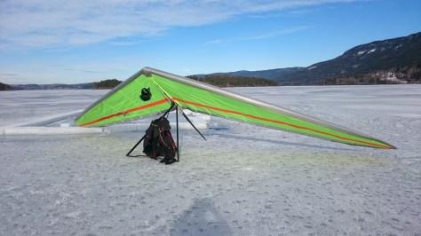 LZ on the frozen Steinsfjorden