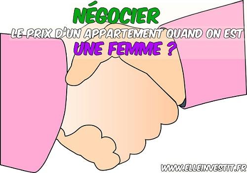 Négocier le prix d'un appartement quand on est une femme