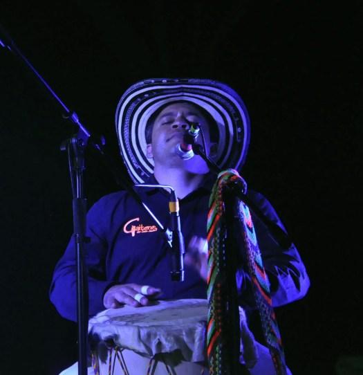 Member of Los Gaiteros de San Jacinto, percussions Mexico City, Casa del Lago on Sunday, March 4.   Photo by Estefania Solorzano