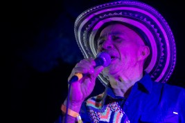 Rafael Castro Fernandez performs for the closing event of NRMAL Festival on Sunday, March 4 as the leader of Los Gaiteros de San Jacinto.
