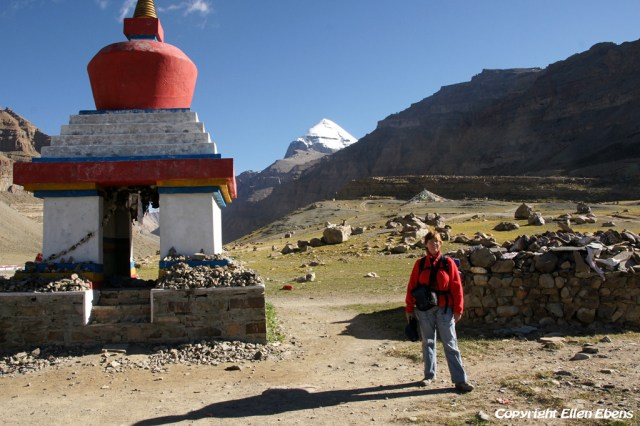 At the Kangnyi Chörten during the kora around Mount Kailash in 2010