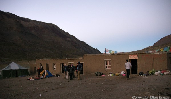 Day 3 of the kora: starting early at the guesthouse near Zutul-puk Monastery (2010)