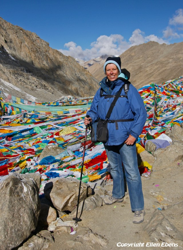 At Drolma La pass (5.660m) during the kora around Mount Kailash in 2011