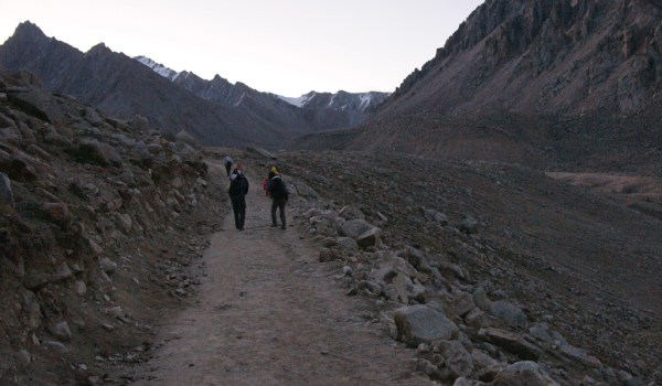 Day 2 of the kora: leaving the guesthouse early in the morning (in the dark) and starting the climb to the Drolma La pass (2011)