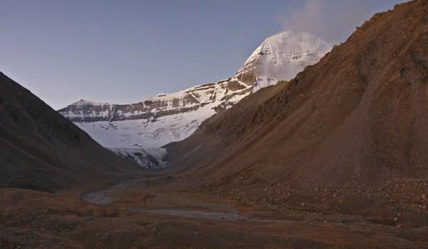 Day 2 of the kora: sunrise on Mount Kailash (2011)