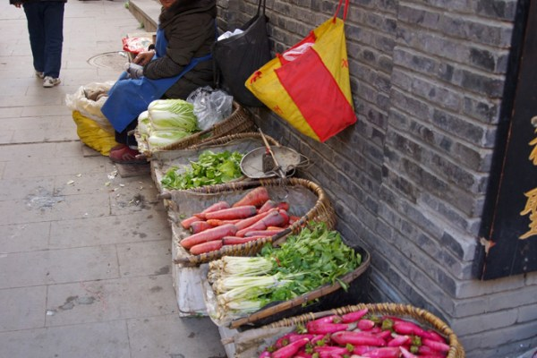 Street vendors at Songpan Ancient Town